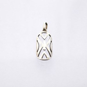DANCE SHIELD LEGER STERLING SILVER PENDANT