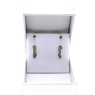 PONAHRE MINI DROP CHAIN EARRING STERLING SILVER