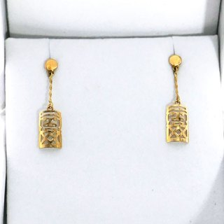 TABOU SHAPE DROP CHAIN EARRING