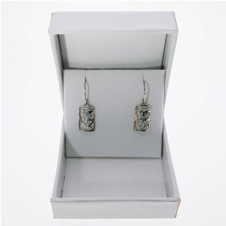 TABOU SHAPED HOOK EARRING STERLING SILVER