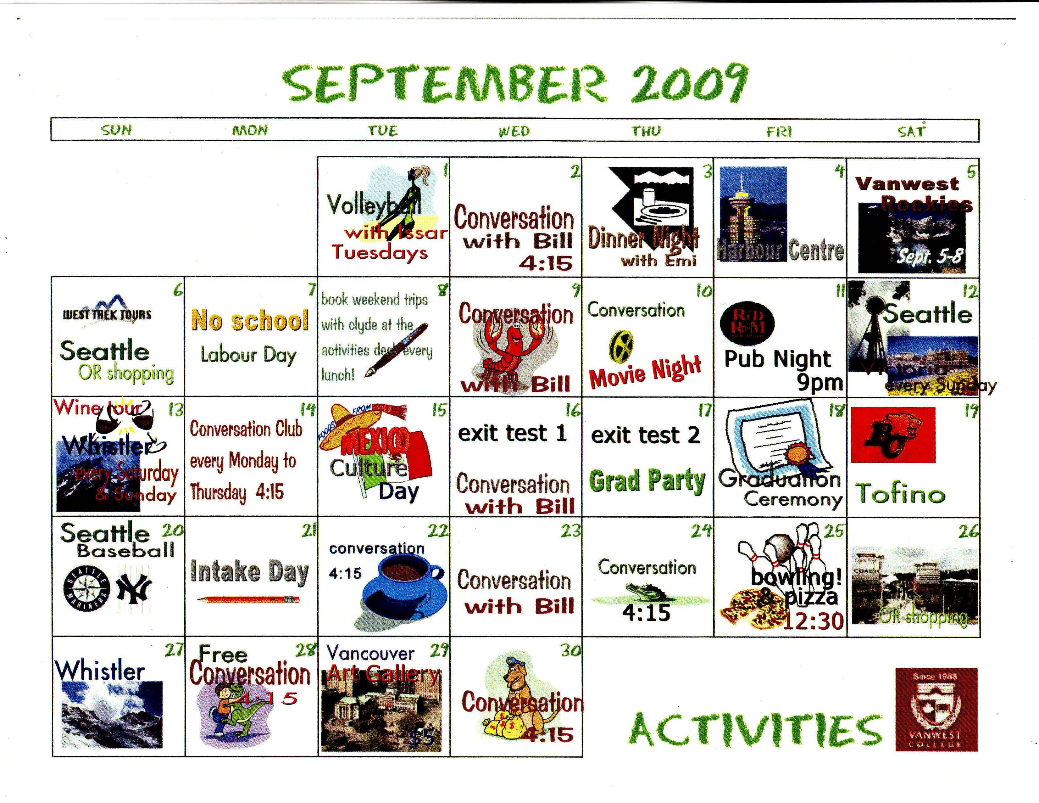 September Activities Gallery