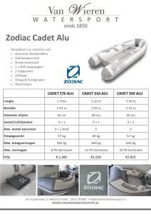 Zodiac Cadet Alu rubberboot