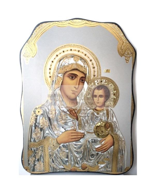 Icoana asimetrica Maica Domnului Ierusalnita