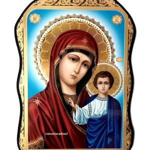 Icoana asimetrica Maica Domnului din Kazan