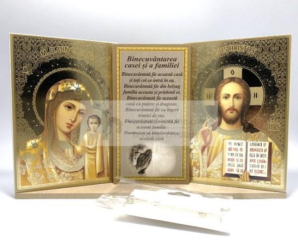 Set icoane aurite cu Binecuvantarea casei si familiei