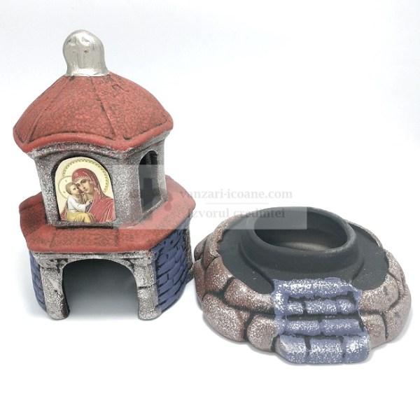 Candela ceramica tip Biserica