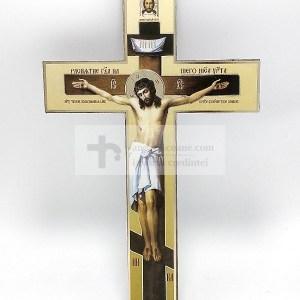 Cruce ortodoxa din lemn cu Rastignirea