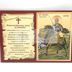 Icoana Sfantului Mina cu binecuvantari