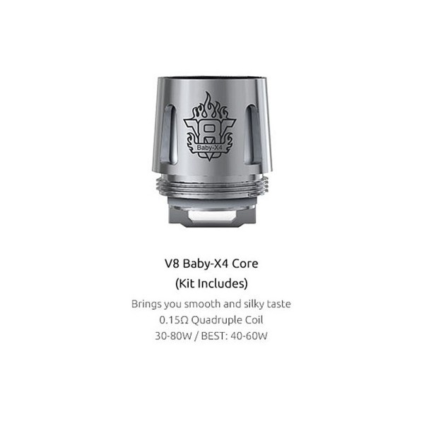v8 baby x4 info for the smok TFV8 baby beast tank in the uk