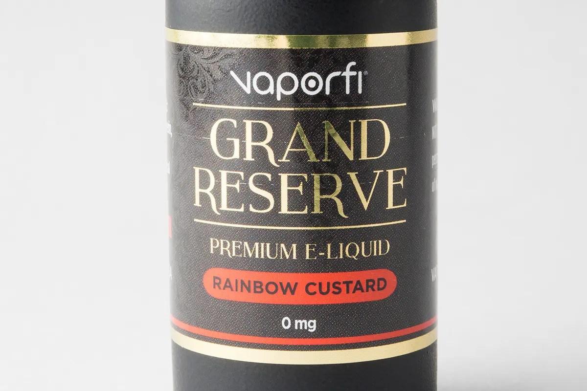 【リキッド】-Grand Reserve- Raindow Custard「レインボーカスタード」 (VaporFi/ベイパーファイ) レビュー
