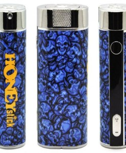 honeystick 2 in 1 defender vape kit blue skulls