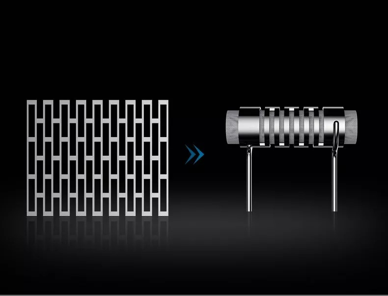 square-circular heating mesh