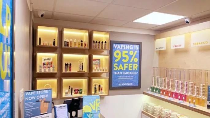 E-cigarette vendors in British hospitals