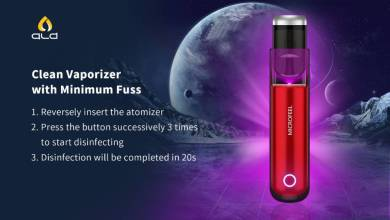 Vaporizer with Disinfection Function