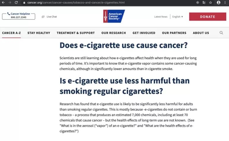We encourage people to switch from traditional cigarettes to electronic cigarettes