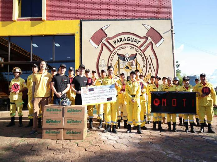 MOTI Donated Generous Help to Paraguay's Fire Department to Help Them Enhance Their Fire Fighting Capability