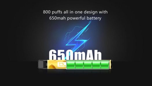 800 puffs all in one design 650 mah powerful battery