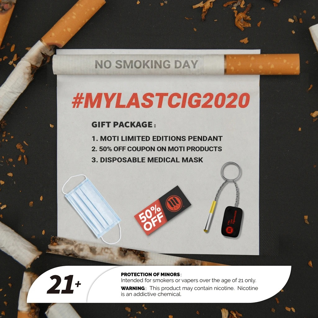 Join MOTI No Smoking Day to quit smoking with free gifts