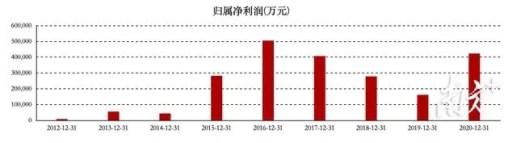 BYD Net Profit 2012-2021