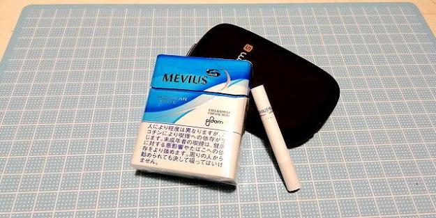 MEVIUS REGULAR TASTE、たばこ味のたばこステイックw