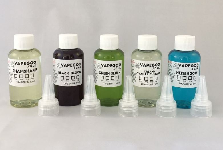 5x 60ml VapeGoo E-Liquid (300ml) – £25.00
