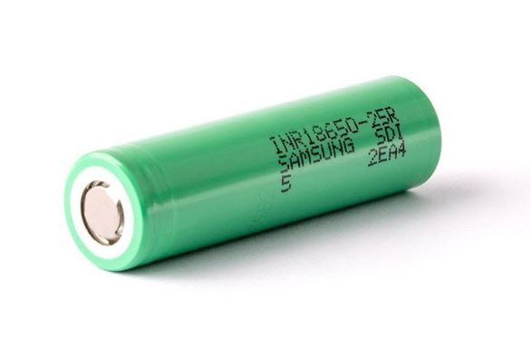 Samsung 25R 18650 Battery 2500mAh – £3.70 delivered