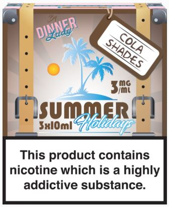 Cola Shades (3mg) by The Dinner Lady Summer Holidays (30ml) – £7.50