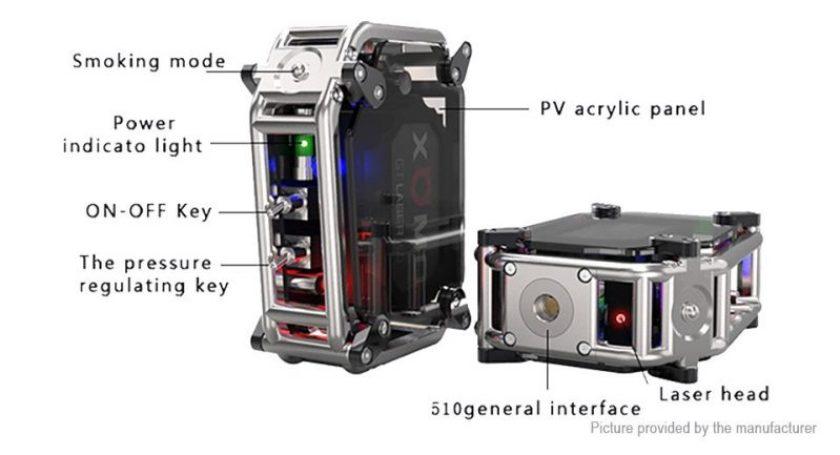XOMO GT Laser 150w Box Mod 3500mah specs