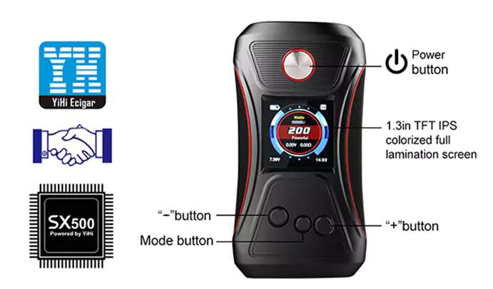 Offer for GTRS VBOY 200W TC Box Mod Specifications