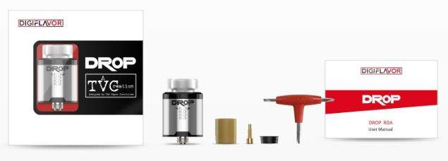 Digiflavour DROP RDA Packaging Contents
