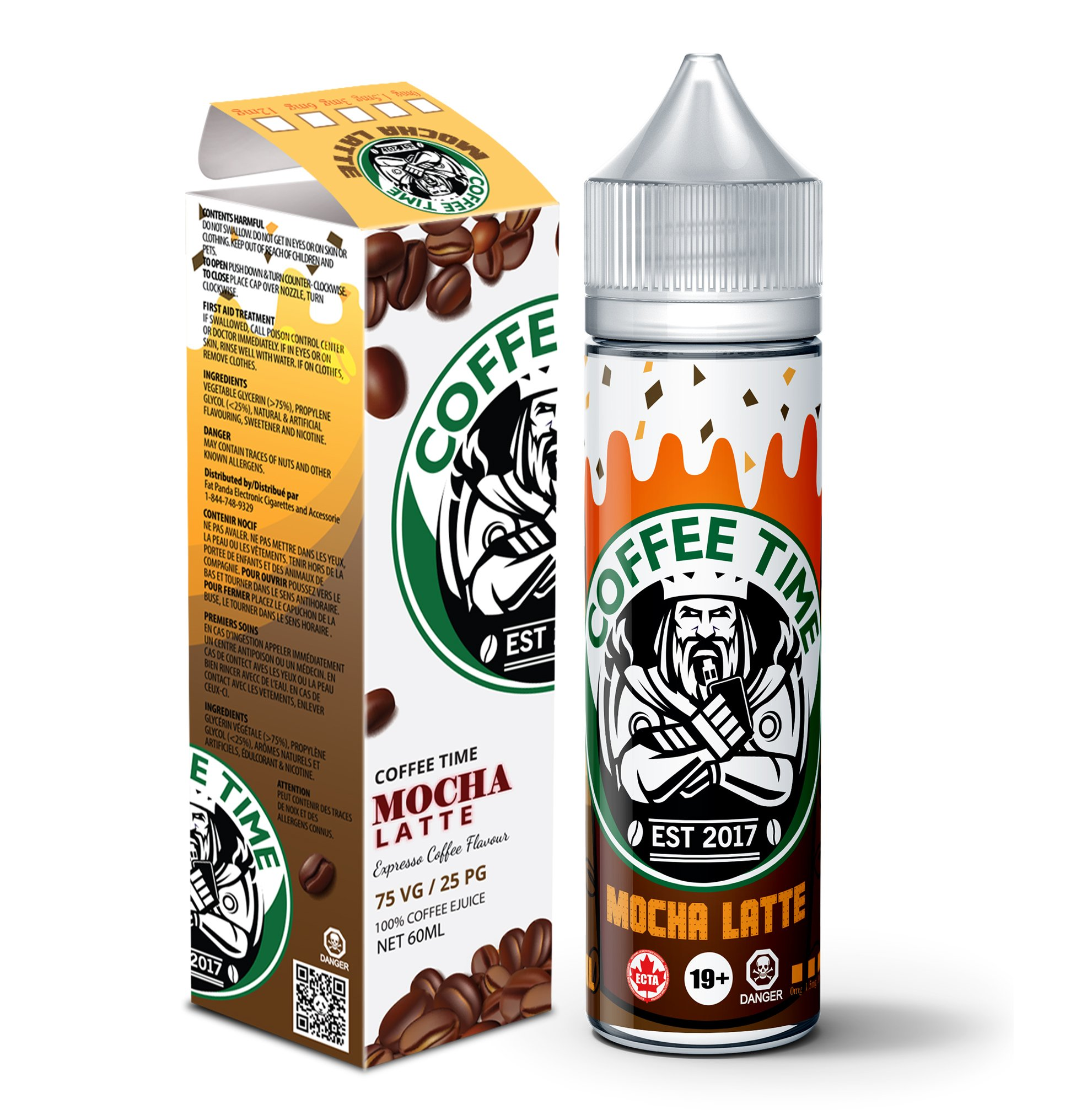 Mocha Latte by Coffee Time 60ml Shortfill – £10.93 at Vape Potions
