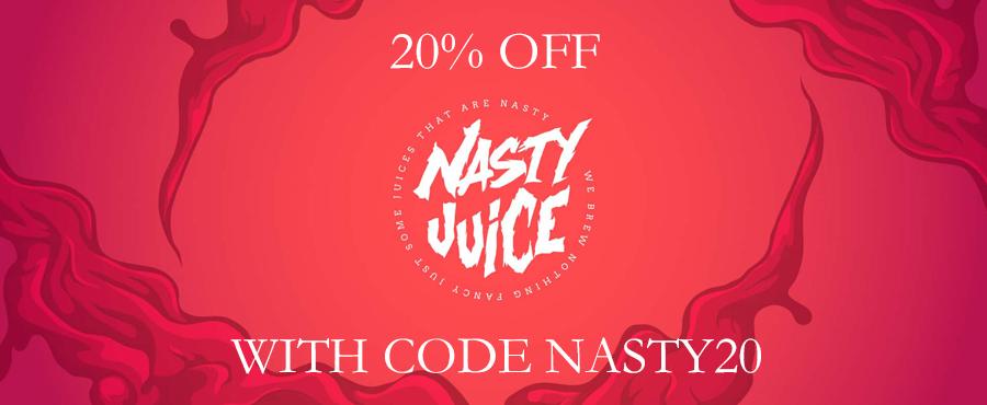 Nasty Juice 20% Off at Gourmet eLiquid!