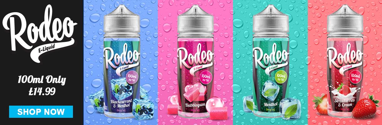 All Rodeo e-liquid 100Ml shortfills 40% off