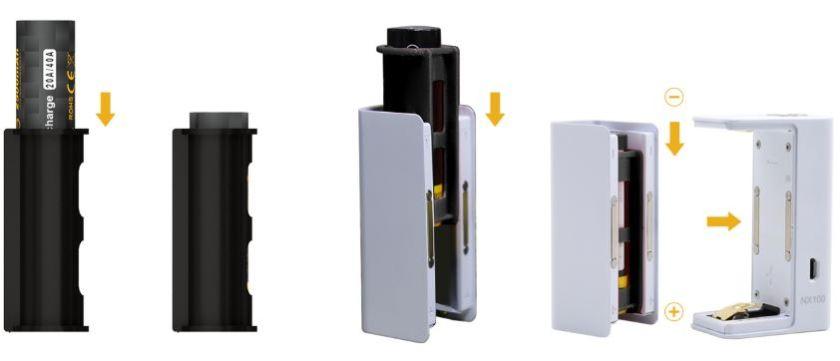 Aspire NX100 Mod 18650 Battery Adaptor Sleeve