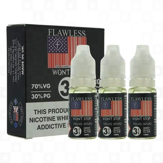 30ml Flawless E-Liquid Multipacks – £2.00