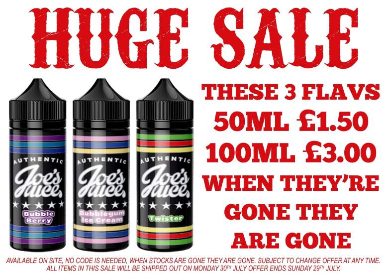 joes juice 50ml shortfill e-liquid deal