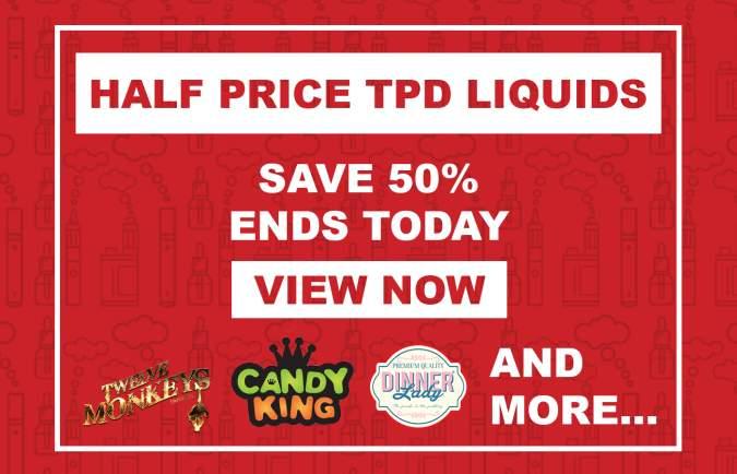 Half price TPD E-liquids at Vapour Depot (Ends Midnight)