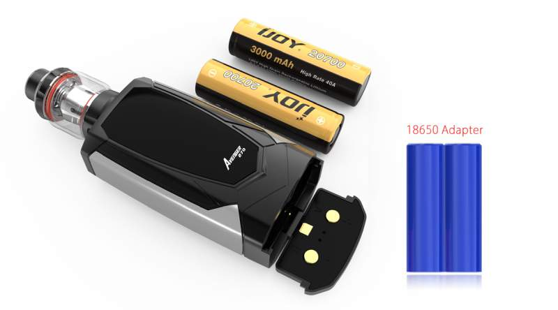 IJOY Avenger 270 234W Voice Control Mod 18650 and 20700 batteries