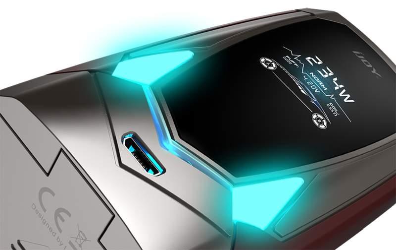 IJOY Avenger 270 234W Voice Control Mod RGB LED Light button