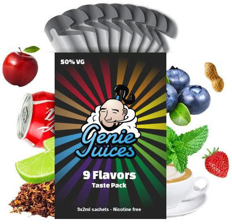 Sample Pack by Genie Juices – £4.99 (Including Delivery)