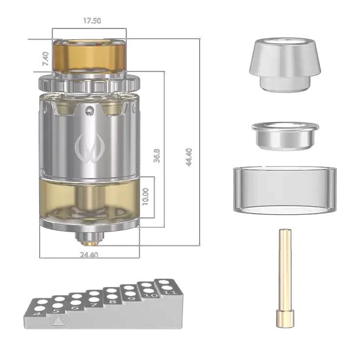 Vandy Vape Pyro V2 RDA Specifications uk