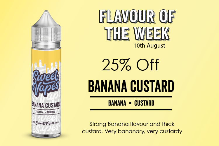 Banana Custard 50ml £4.19 By Sweet Vapes