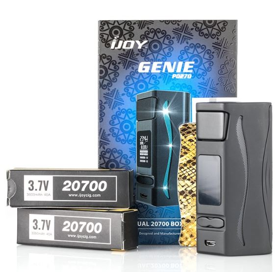IJOY Genie PD270 Box Mod x2 20700 Batteries – £27.84