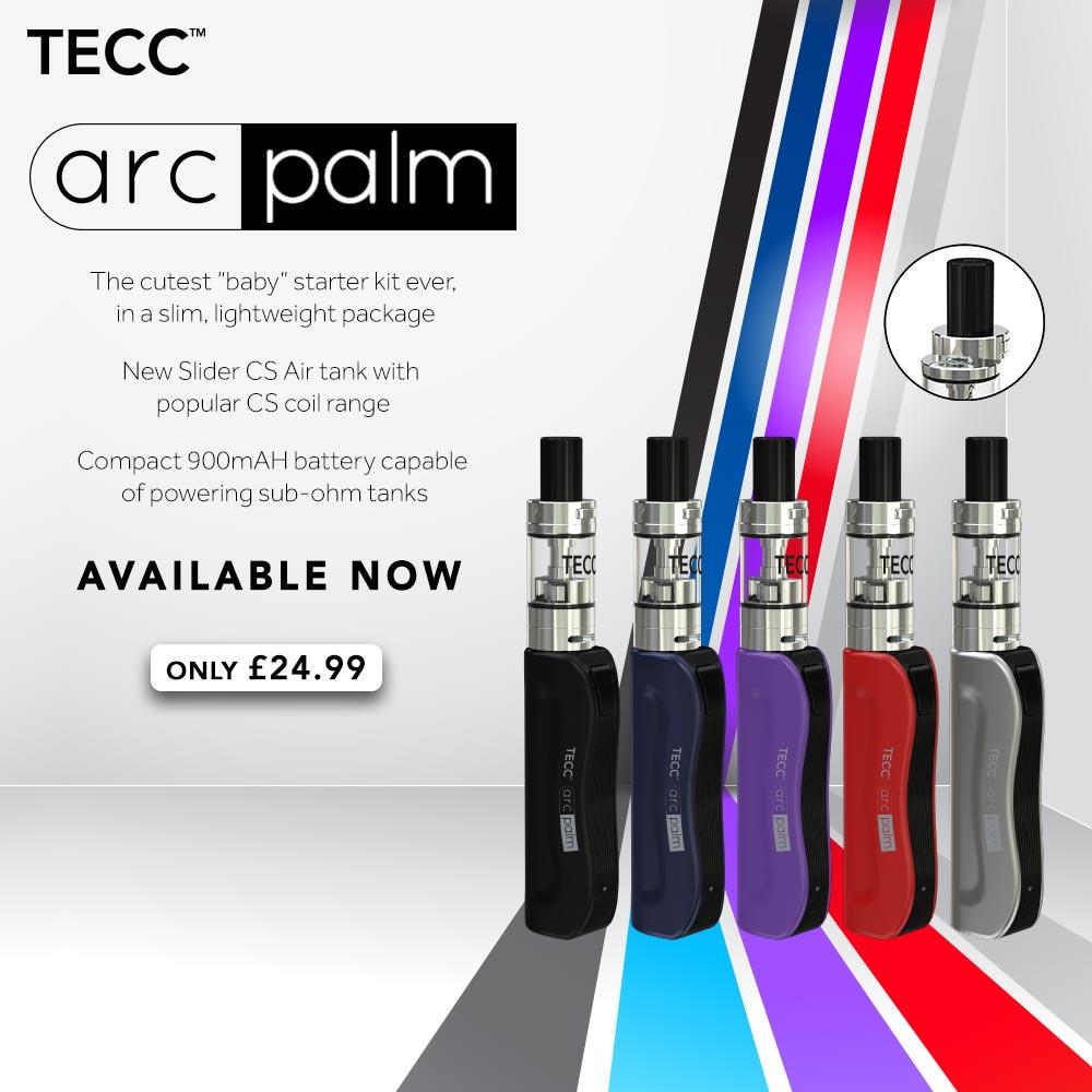 TECC arc Palm E-cig Kit – £19.99 At TECC