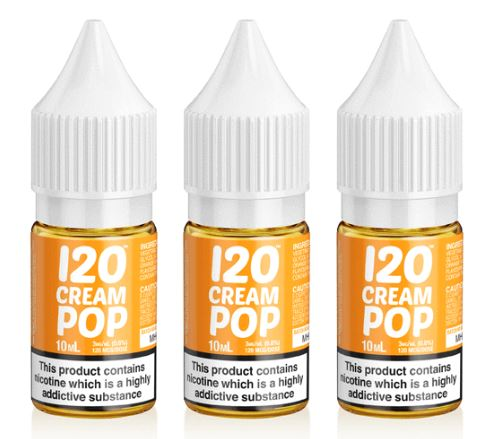 Mad Hatter 120 Cream Pop e-liquid 3 x 10ml – £2.00