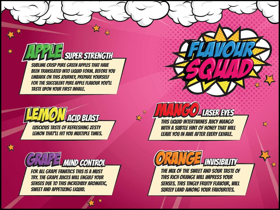 The Flavour Squad 100ml Shortfill Sale – £5.99