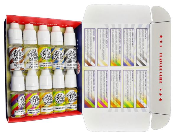 Mix Juice Sample Packs 10 x 10ml – £6.99