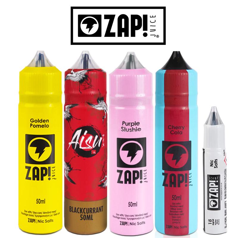 ZAP! JUICE 50ml E-Liquid Shortfills – £7.99