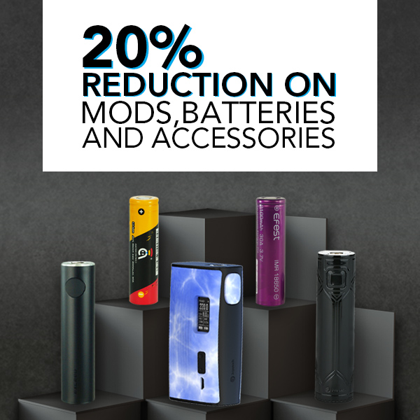 20% Reduction On Mods, Batteries & Accessories At Joyetech UK