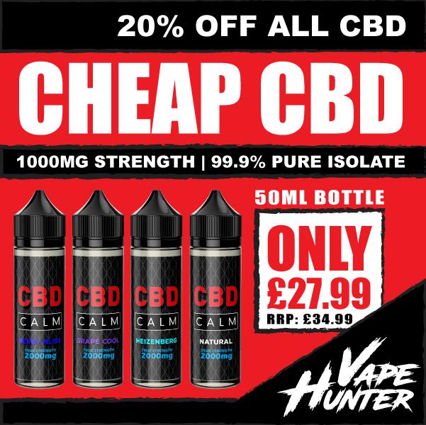 CBD 1000mg 50ml E-Liquid – £23.79